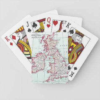 MAP: BRITISH ISLES, c1890 Poker Deck