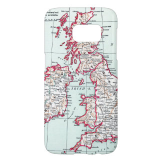 MAP: BRITISH ISLES, c1890 Samsung Galaxy S7 Case