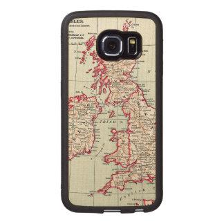 MAP: BRITISH ISLES, c1890 Wood Phone Case