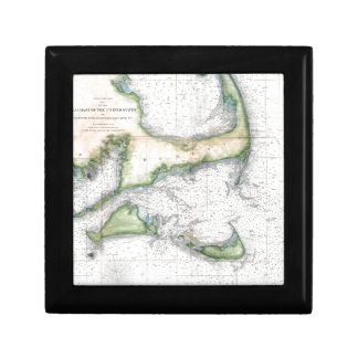 Map Cape Cod, Nantucket, Martha's Vineyard Gift Box