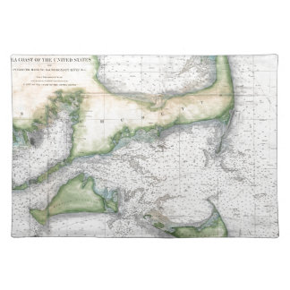 Map Cape Cod, Nantucket, Martha's Vineyard Placemat