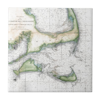Map Cape Cod, Nantucket, Martha's Vineyard Tile