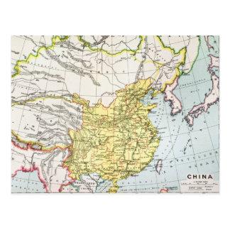 MAP: CHINA, 1910 POSTCARD