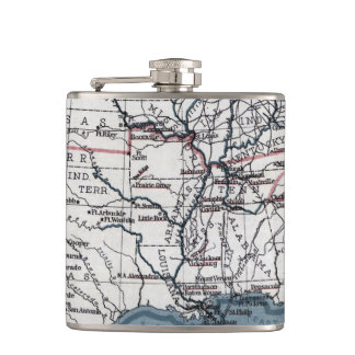 MAP: CIVIL WAR, 1861 FLASK