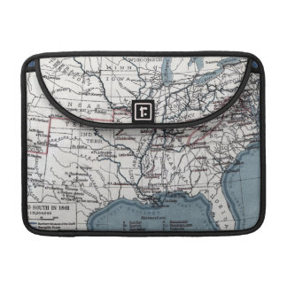 MAP: CIVIL WAR, 1861 SLEEVES FOR MacBook PRO