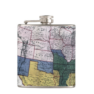 MAP: CIVIL WAR, 1864 HIP FLASK