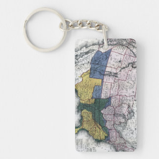 MAP: CIVIL WAR, 1864 KEYCHAIN