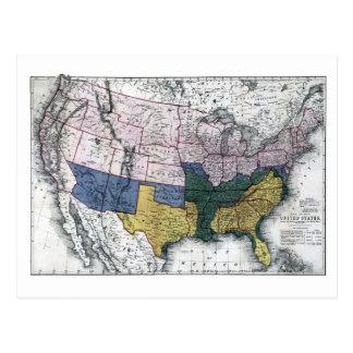 MAP: CIVIL WAR, 1864 POSTCARD
