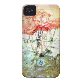Map, Compass, Roses iPhone 4 Case