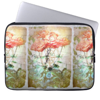 Map, Compass, Roses Laptop Sleeve