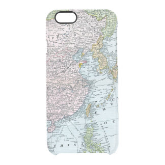 MAP: EAST ASIA, 1907 CLEAR iPhone 6/6S CASE
