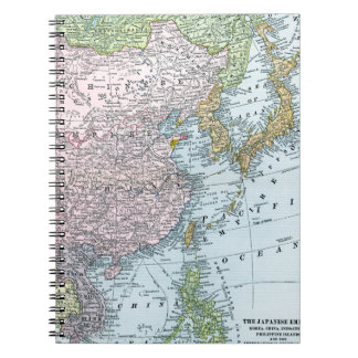 MAP: EAST ASIA, 1907 SPIRAL NOTEBOOKS