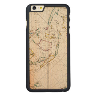 MAP: EAST INDIES, 1670 CARVED® MAPLE iPhone 6 PLUS CASE
