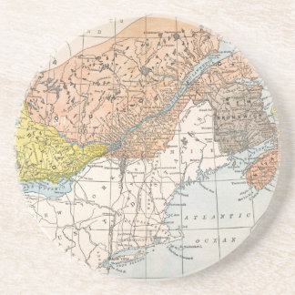MAP: EASTERN CANADA BEVERAGE COASTER