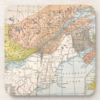 MAP: EASTERN CANADA BEVERAGE COASTERS