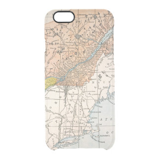 MAP: EASTERN CANADA CLEAR iPhone 6/6S CASE