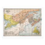 MAP: EASTERN CANADA POSTCARD