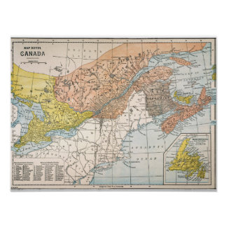 MAP: EASTERN CANADA POSTER
