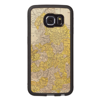 MAP: ENGLAND & WALES WOOD PHONE CASE