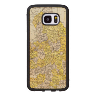 MAP: ENGLAND & WALES WOOD SAMSUNG GALAXY S7 EDGE CASE