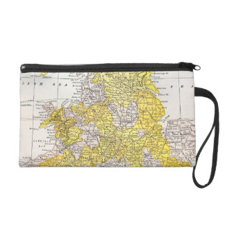 MAP: ENGLAND & WALES WRISTLET PURSE