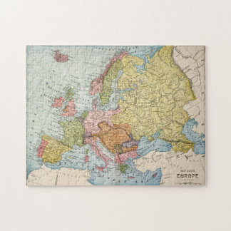 MAP: EUROPE, 1885 JIGSAW PUZZLE
