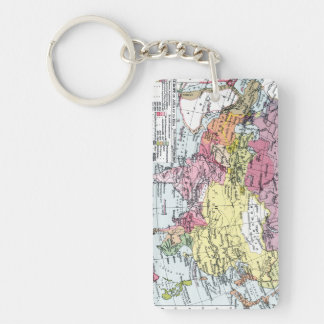 MAP: EUROPE IN ASIA Double-Sided RECTANGULAR ACRYLIC KEYCHAIN