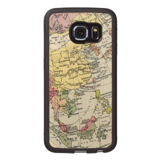 MAP: EUROPE IN ASIA WOOD PHONE CASE