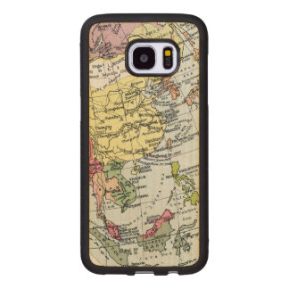 MAP: EUROPE IN ASIA WOOD SAMSUNG GALAXY S7 EDGE CASE