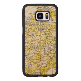 MAP: FRANCE WOOD SAMSUNG GALAXY S7 EDGE CASE