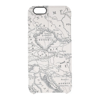 MAP: GERMANY AND AUSTRIA CLEAR iPhone 6/6S CASE