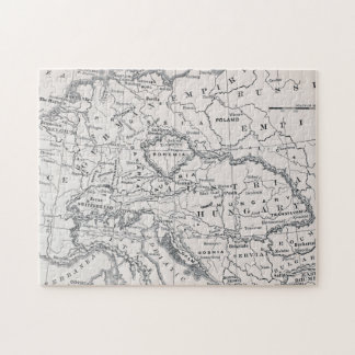 MAP: GERMANY AND AUSTRIA JIGSAW PUZZLE