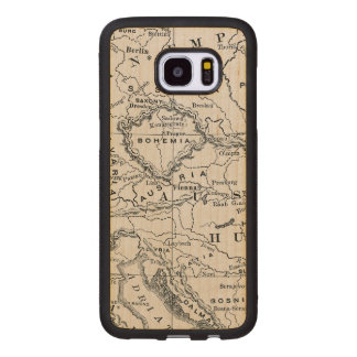 MAP: GERMANY AND AUSTRIA WOOD SAMSUNG GALAXY S7 EDGE CASE