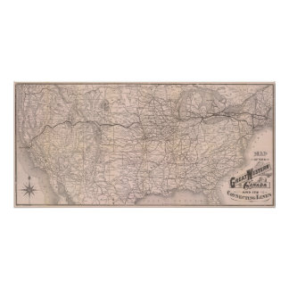 Map Great Western Railway of Canada Poster