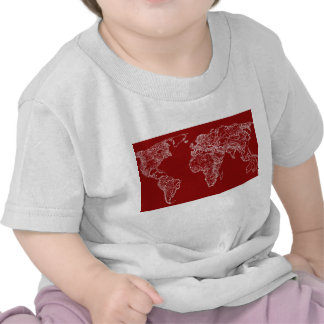 Map in red tees