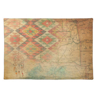 Map Indian Nation southwest earth tones Placemat