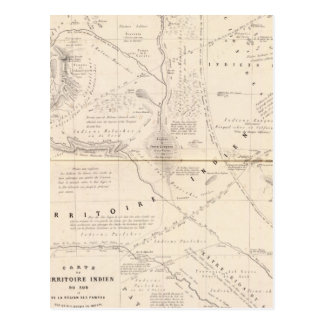 Map, Indian Territory South of the Pampas Region Postcard