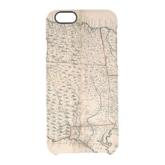MAP: JAMAICA, 1755 2 CLEAR iPhone 6/6S CASE