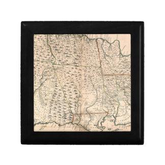 MAP: JAMAICA, 1755 2 JEWELRY BOX