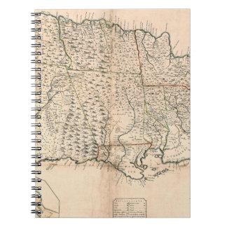 MAP: JAMAICA, 1755 2 SPIRAL NOTEBOOK