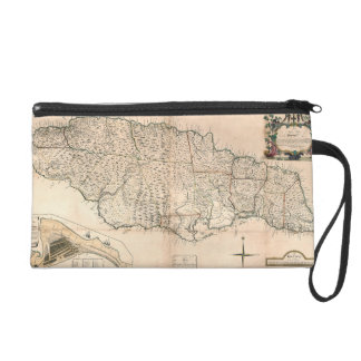 MAP: JAMAICA, 1755 2 WRISTLET CLUTCH