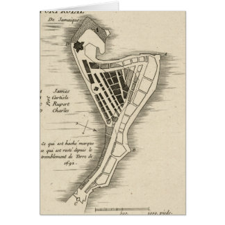 MAP: JAMAICA, 1755 CARD