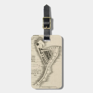 MAP: JAMAICA, 1755 LUGGAGE TAG