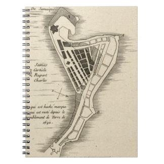 MAP: JAMAICA, 1755 NOTEBOOK