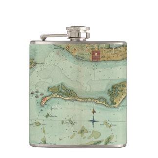 MAP: JAMAICA, 1756 FLASK