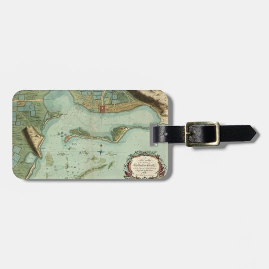MAP: JAMAICA, 1756 LUGGAGE TAG