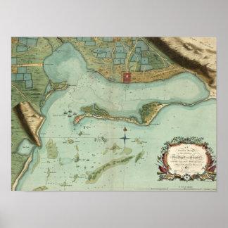 MAP: JAMAICA, 1756 POSTER
