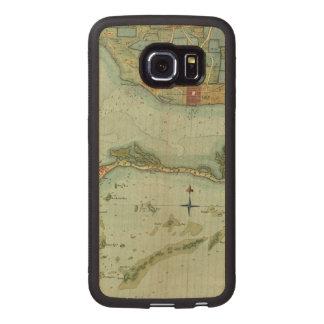 MAP: JAMAICA, 1756 WOOD PHONE CASE