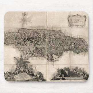 MAP: JAMAICA, 1763 MOUSE PAD