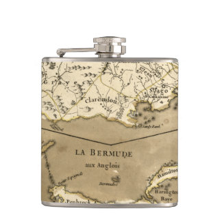 MAP: JAMAICA, 1767 FLASK